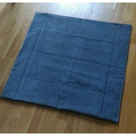 coussin plat 70x70 cm gris